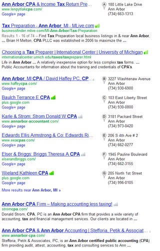 Local seo ann arbor tax CPA