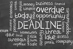 Blackboard-deadline
